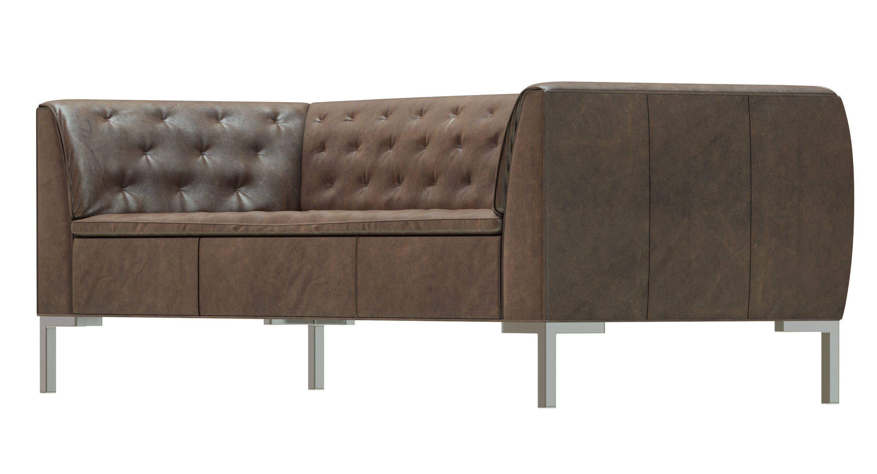 ... Crate And Barrel Grafton Leather Chesterfield Sofa 3d Model Max Obj 3ds  Fbx Mtl 4 ...
