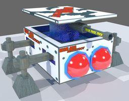 Sci Fi Sentry Bot 3D asset