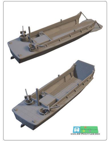 us landingcraft -stl file-  3d model stl 1