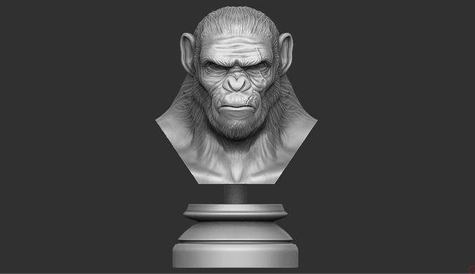 koba monkey  3d model obj mtl stl ztl 1