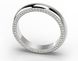 Engagement classic ring 10 sizes 3D print model
