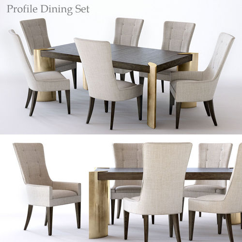 Bernhardt Profile Dining Set 1 Model