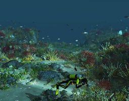 3D model Coral reef
