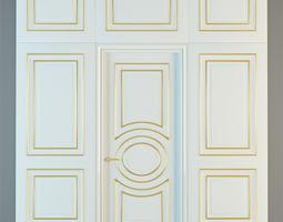 Union Grand GR01 door with panels 3D model