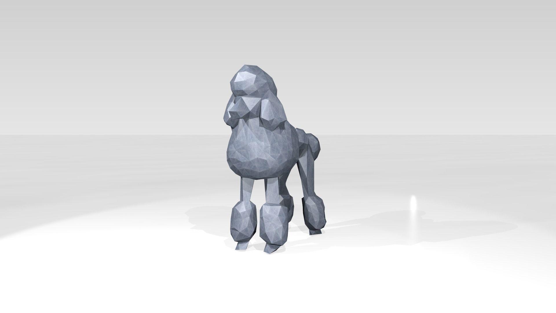 Poodle Low Poligonal | 3D model