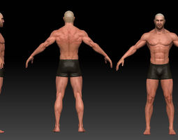 3d model VR / AR ready male body