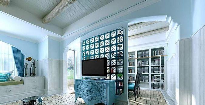 elegant living room cum dining space 3d model max 1