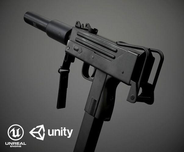 MAC 10 PBR | 3D model