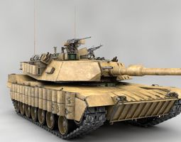 PBR 3d model m1a2 abrams sep 3 with interior