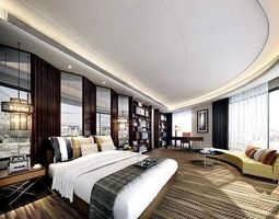 3D luxury-interior Fully Carpeted Luxury Bedroom Interior
