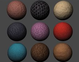 3D model Leather Textures Pack 3