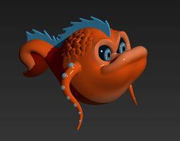 Orange Sea Creature 3D