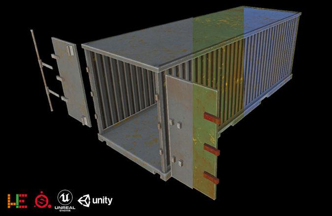 hie hie game ready cargo 3 color 3d model obj mtl fbx 1