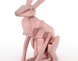 Low Poly Rabbit 3D print model