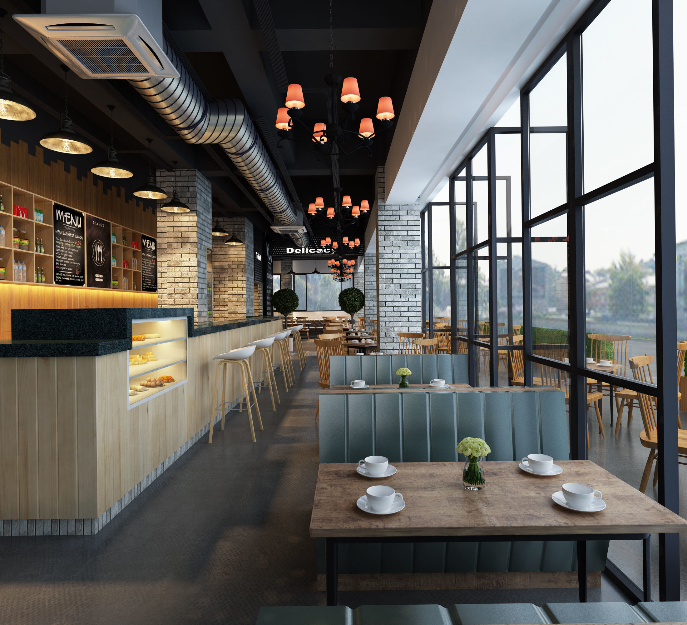 Food 3d Model Modern Restaurant Cgtrader