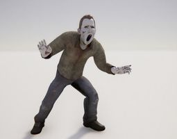 Zombie Male 1 - Animated 3D asset