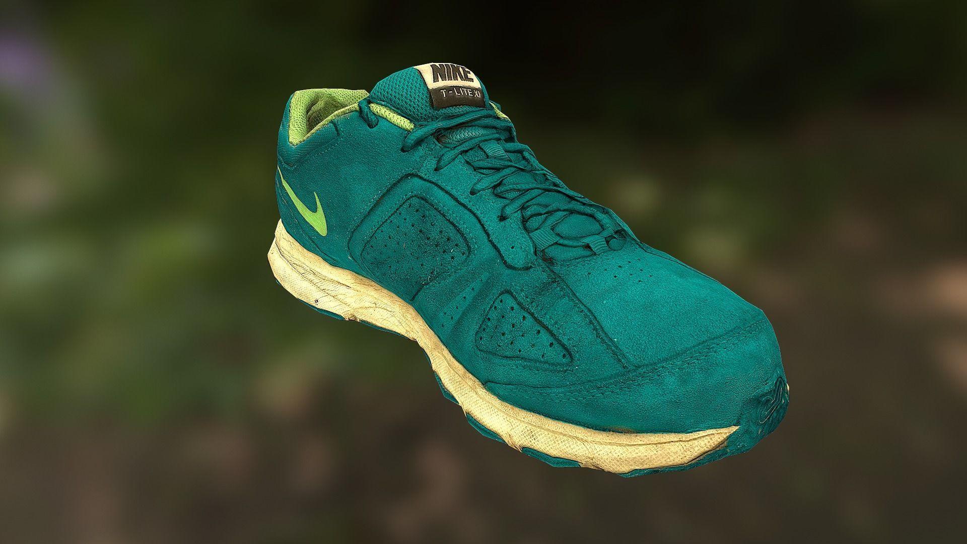 Worn Nike shoe low poly 3D model
