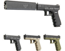 glock 17 with silencer 3d model