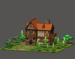 3D model Cartoon Fantasy House