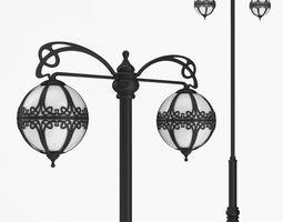 3D Street lamp two bulb v3f