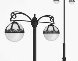 3D model Street lamp two bulb v3h
