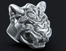 3D printable model Big Cat Head Knocker