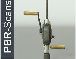 Hand Drill High Poly 3D model PBR