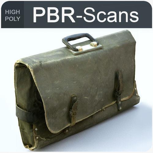 satchel high poly 3d model obj mtl fbx ma mb 1