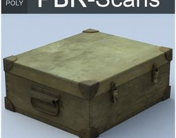 PBR trunk high poly 3d model
