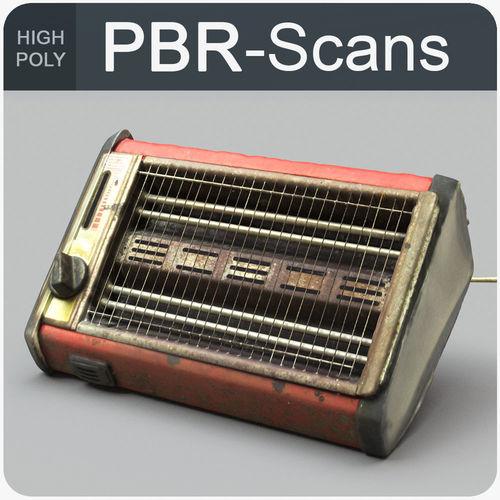 heater high poly 3d model obj mtl fbx ma mb 1