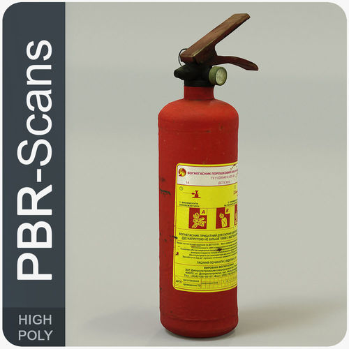 extinguisher high poly 3d model obj fbx ma mb 1