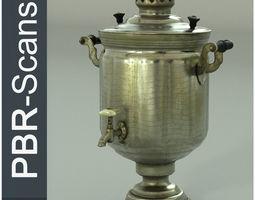 Samovar Middle Poly 3D model PBR