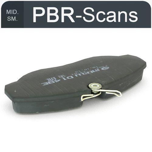 brake pads middle sm 3d model obj mtl fbx ma mb 1