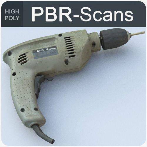 drill high poly 3d model obj fbx ma mb 1