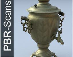 Samovar Low Poly 3D asset