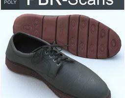 3D asset realtime Shoe Low Poly
