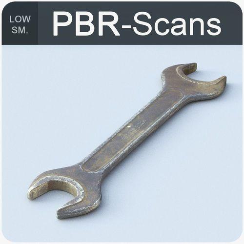 wrench low sm 3d model low-poly obj mtl fbx ma mb 1