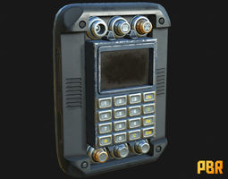 Military Scrambler Device Decryptor Cipher 3D asset 1