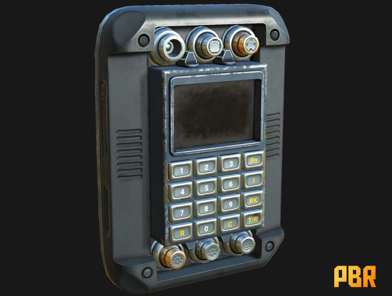 Military Scrambler Device Decryptor Cipher low-poly PBR