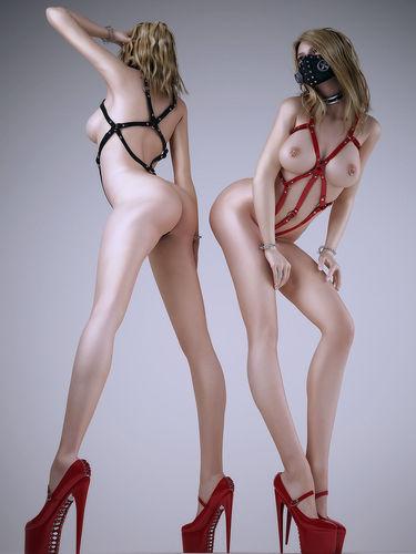 sexy women one 3d model max obj fbx stl 1