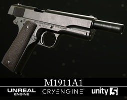 3D model M1911A1 - Textured - Game Ready