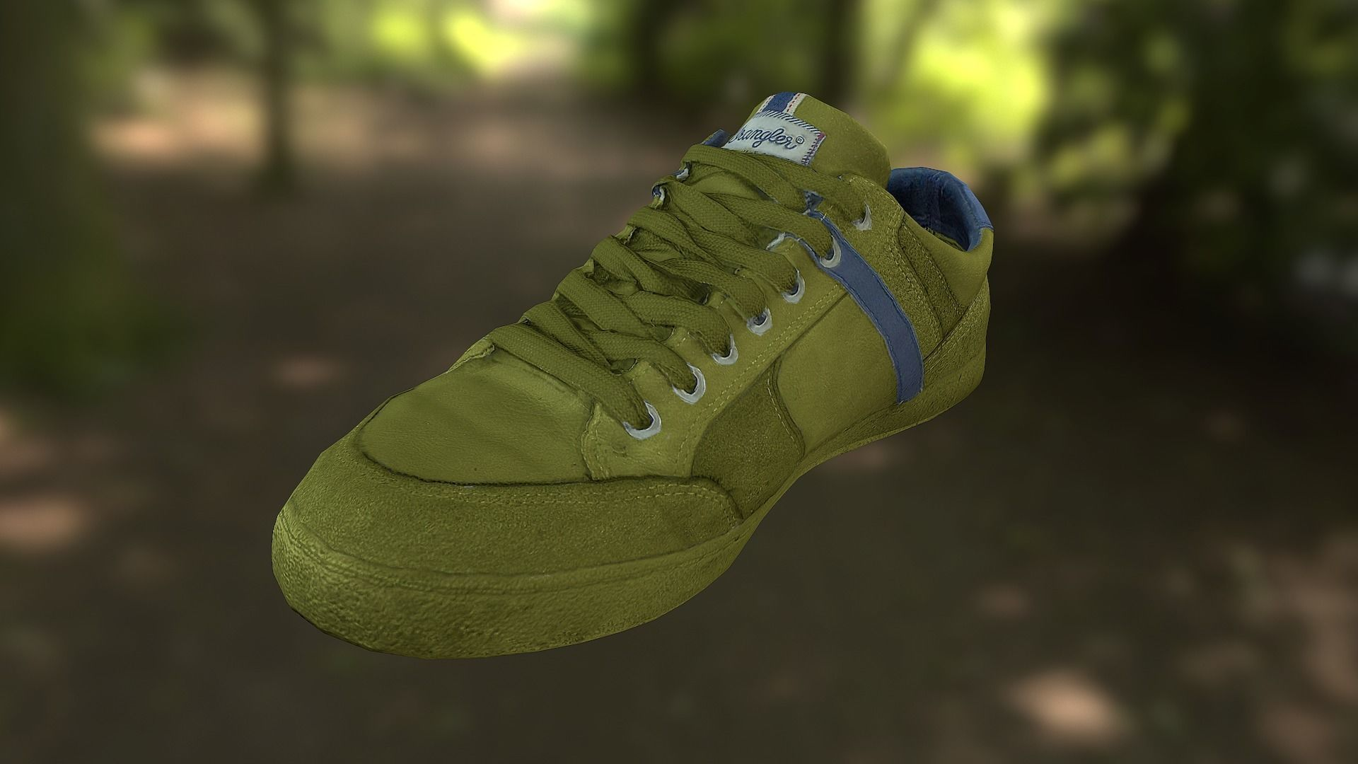 Sneaker shoe low poly model