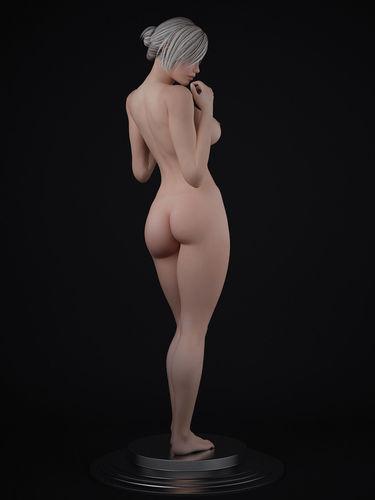 nude female character 3d model max fbx 1