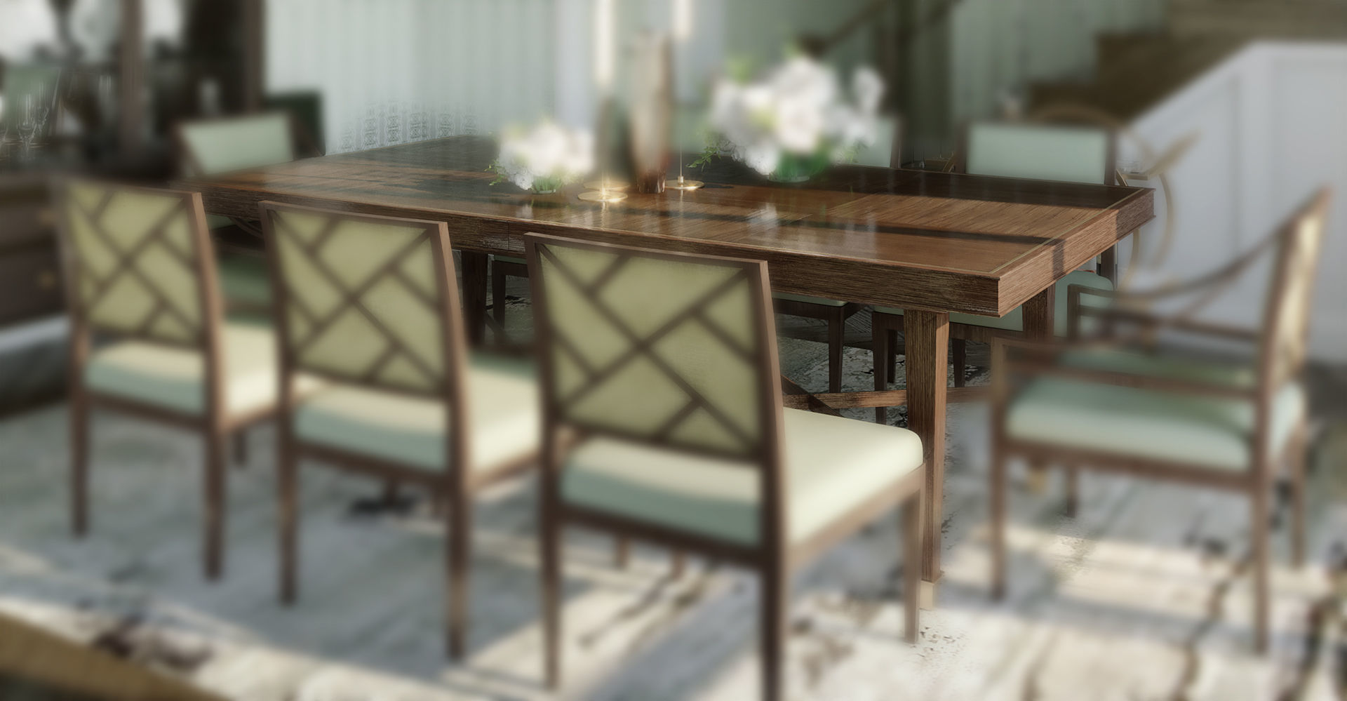 Baker Furniture Larchmont Dining Table Model Max Obj Mtl S Fbx 3