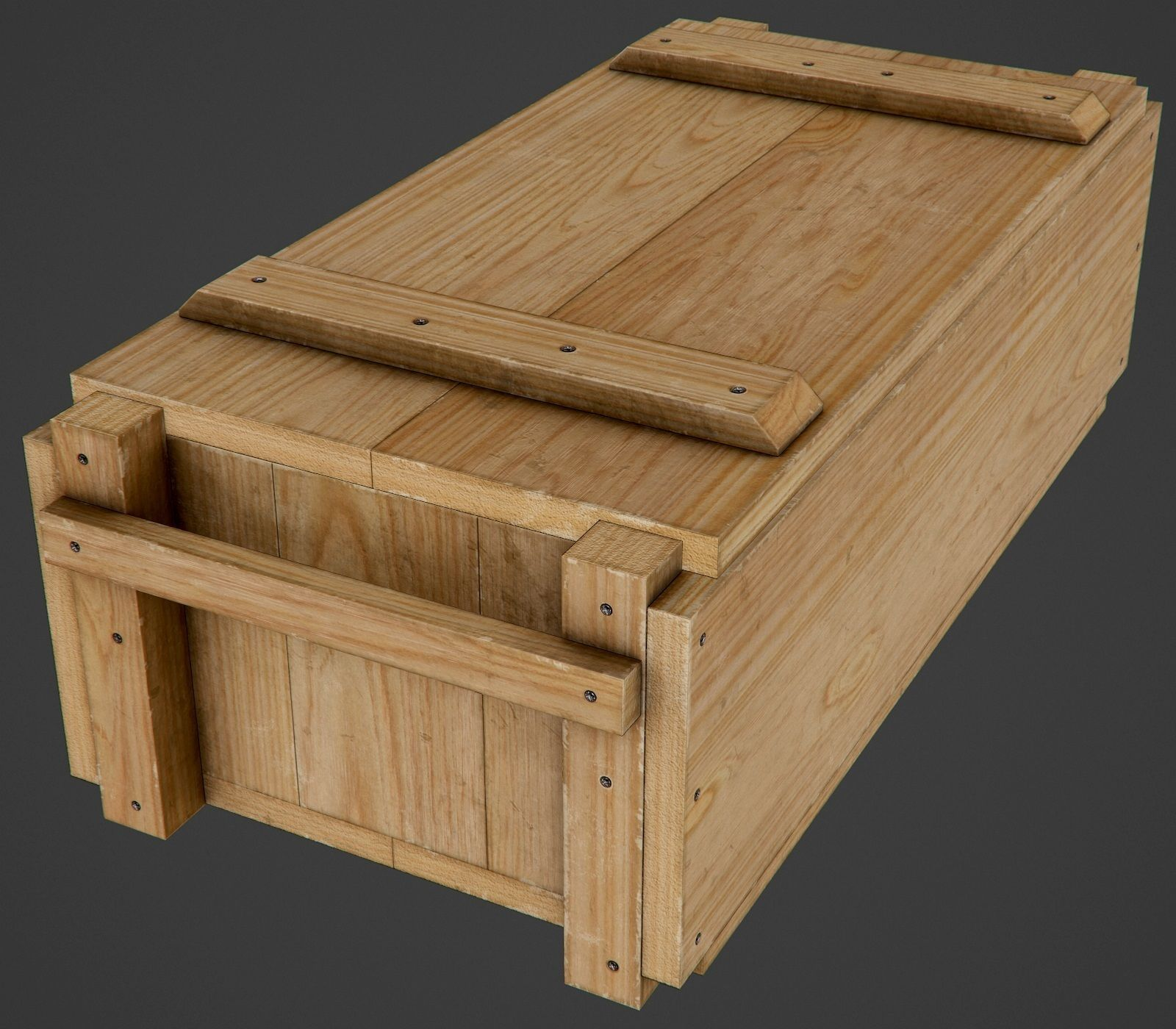 Wooden Ammo Box - PBR Game-Ready
