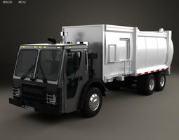 3D model Mack LR Garbage Truck 2015