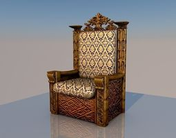 3D Chair of the king 1