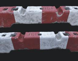 Old Concrete Barricade PBR 3D asset
