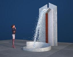 3D model Modern Concrete Torrent Fountain