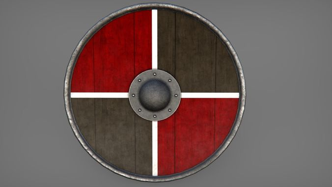 round shield collection 01 3d model low-poly max obj mtl 3ds fbx 1
